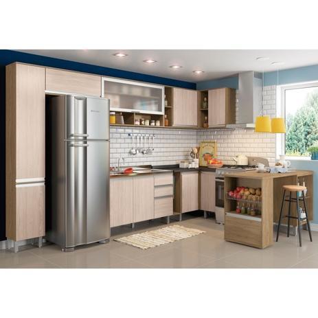 Cozinha Modulada Cp6 Integra Rústicocreme Henn Acessórios De