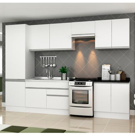 #463463 Cozinha modulada veneza 8 peças 100 mdf branco txbranco  463x463 px Armario De Cozinha Em 2018 #2989 imagens