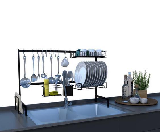Imagem de Cozinha Modular Autosustentável Escorredor Louças E Talheres