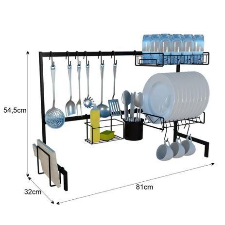 Imagem de Cozinha Modular Sobre Pia Escorredor de Louça Porta Talheres