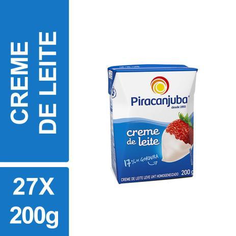Imagem de Creme Leite Piracanjuba 200g Tetra Pak Kit 27un
