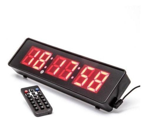 Imagem de Cronometro Relógio Led Digital Parede Mesa C/ Controle Jh120