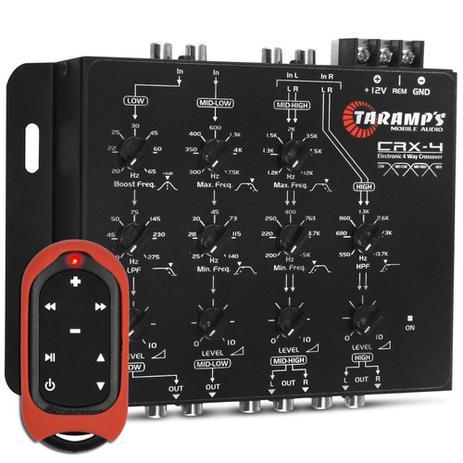 Imagem de Crossover Taramps Crx4 De 4 Vias Eletrônico Som Automotivo + Controle Tlc-3000