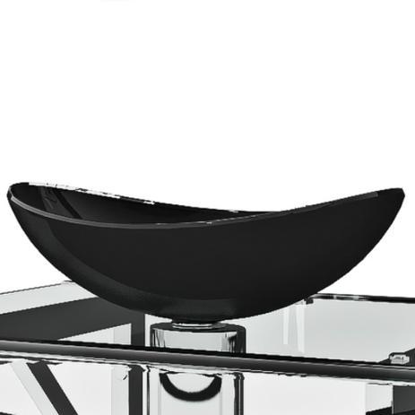 Imagem de Cuba Bath 54cm em Vidro Temperado p/ Banheiro ou Lavabo  Preto
