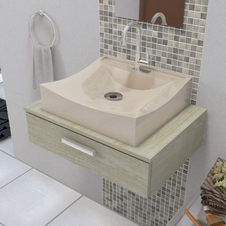 Imagem de Cuba de Apoio Para Banheiro e Lavabo Modelo Romana Bege