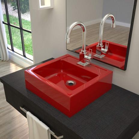 Cuba Para Banheiro Q35w Compace Vermelho