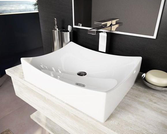 Cuba Pia De Apoio Para Banheiro Toleato Folha Pádua 45 Cm Marmorite Branco