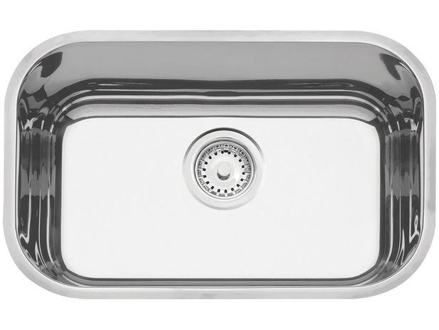 Imagem de Cuba Simples de Embutir para Cozinha Tramontina Inox Retangular 47x30cm Prime Lavínia +válvula+sifão
