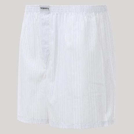 4b5e0dffe Cueca Presidente Samba Canção Com Abertura 100 algodão- Branca Listrada