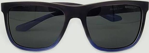 Imagem de culos Sol Speedo Tritan Angra H01 Cinza Azul Lente Cinza Polarizada