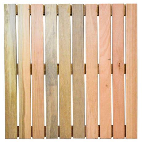 Imagem de Deck de Madeira Modular Base Madeira Isabela Revestimentos 50cmx50cm (Placa) Eucalipto