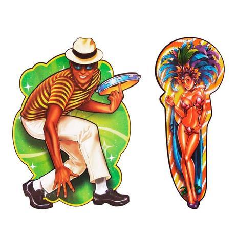 Imagem de Decoração de Carnaval Painel Sambista e Passista Festança