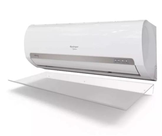 7dcae16d3 Defletor para Ar Condicionado split de 18.000 a 24.000 BTUs em acrílico  transparente - 105x36cm - Aflmix