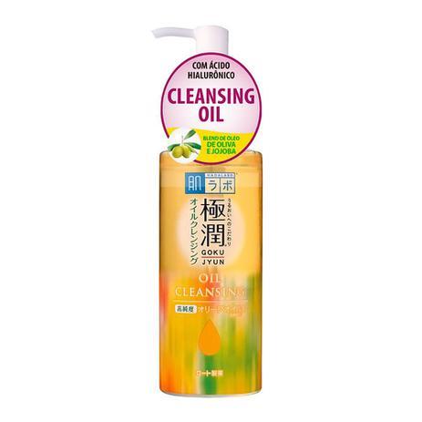 Imagem de Demaquilante Facial Hada Labo Gokujyun Cleansing Oil com Óleo de Oliva e Jojoba 200ml