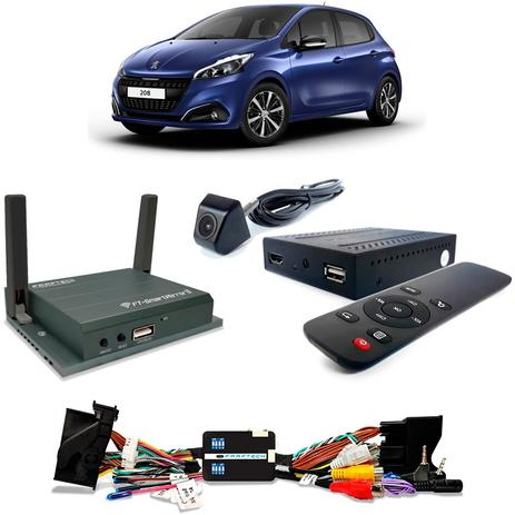 Desbloqueio De Multimidia com TV Full HD Espelhamento e Camera Peugeot 208  2018 a 2019 - Faaftech