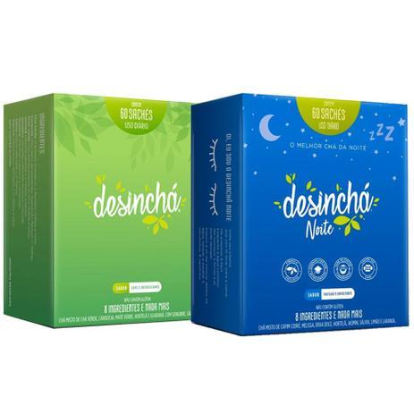 Imagem de Desinchá 60 Sachês + Desinchá Noite