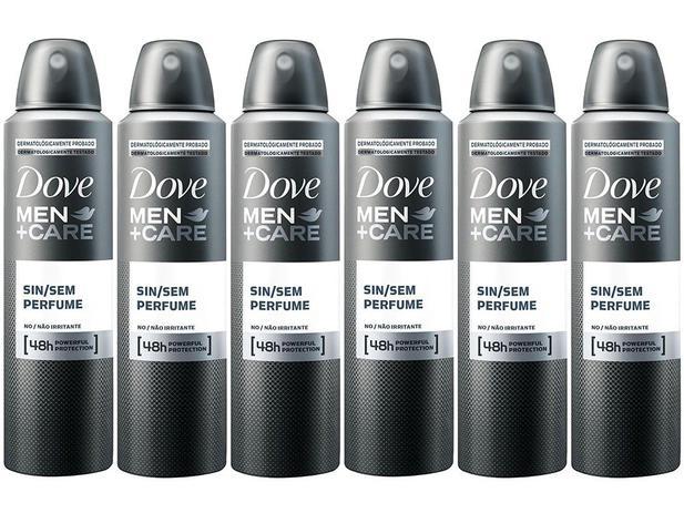 86d31d566 Desodorante Aerosol Antitranspirante Masculino - Men+Care Sem Perfume 150ml  Cada 6 Unidades
