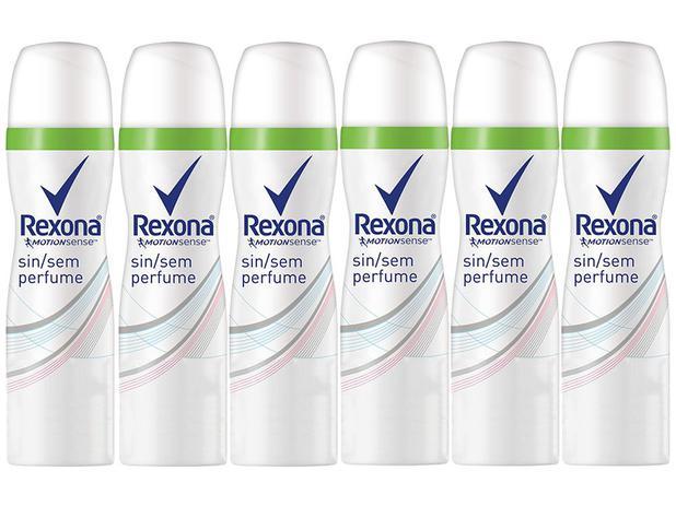 b89b64463c Desodorante Aerosol Antitranspirante Unissex - Rexona Motion Sense Sem  Perfume 85ml 6 Unidades
