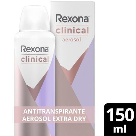 Imagem de Desodorantes Antitranspirante Rexona Clinical Aerosol Extra Dry 150ml