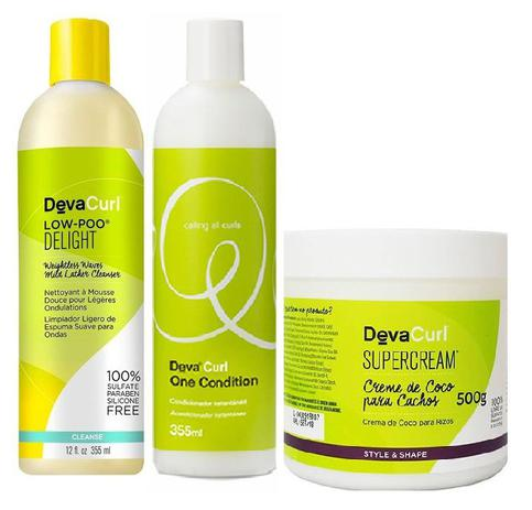 b2869a6a7 Deva Curl Low Poo Delight One Condition E Supercream - Kits para ...