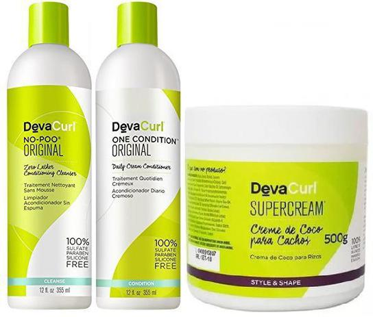 9ae2e392e Deva Curl No Poo E One Condition De 355ml E Supercream 500g - Kits ...