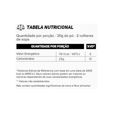 Resultado de imagem para CARB UP ENERGY BLEND MORANGO - UNI informação nutricional