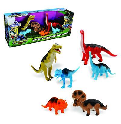 Imagem de Dinossauro evolucao com 6 pecas mundo de aventuras