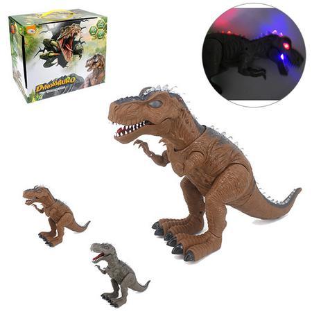 Imagem de Dinossauro t-rex colors com som e luz a pilha na caixa