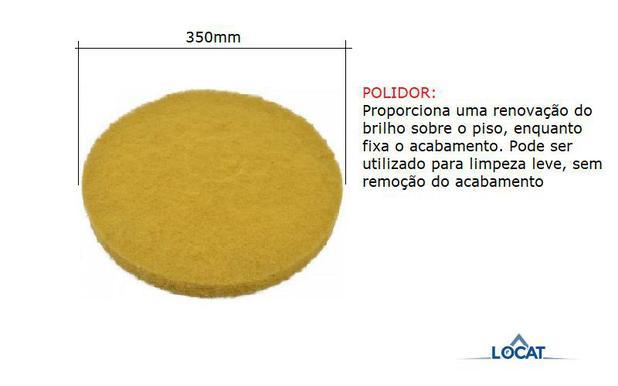 Imagem de Disco para Enceradeira Amarelo 350mm