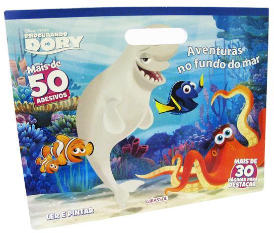 Disney Pixar Aventuras No Fundo Do Mar Ler E Pintar Girassol