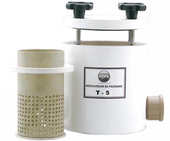 Imagem de Dissolvedor de Pastilhas - Modelo T5 - Capacidade 5 pastilhas de 200g - EPEX