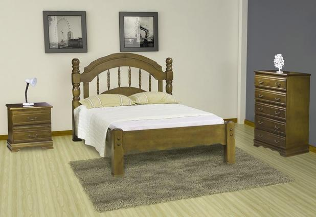 1274bbe48 Dormitório de Casal Eliane de Madeira Maciça Pinus - Bedroom - Cama ...