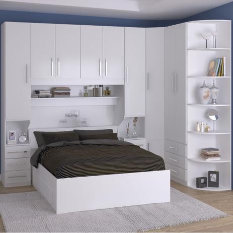 658916dd98 Dormitório De Casal Sem Cama 1219S Branco - Móveis ilan - Quarto ...