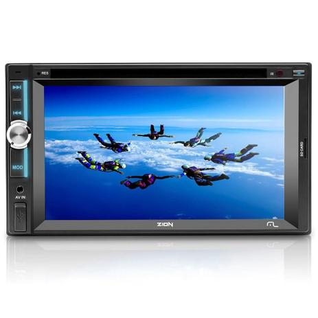 Imagem de DVD Automotivo Multilaser Zion LCD 6.2 Entrada Auxiliar USB, SD,CD/DVD Player P3307