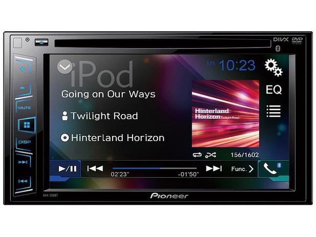 """DVD Automotivo Pioneer AVH-298BT 6.2"""" Touch  - Bluetooth 23W RMS Entrada para Câmera de Ré"""