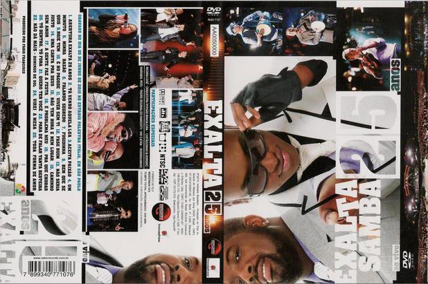 audio dvd exaltasamba 25 anos ao vivo