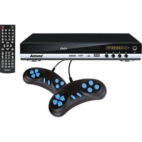 Imagem de DVD Player com Conexão USB. Game. Ripping e 2 Joysticks Amvox AMD 910