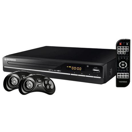 Imagem de DVD Player D-14 Game Star USB II, Função Karaokê, Ripping/Copy, Função Game, 2 Joysticks - Mondial
