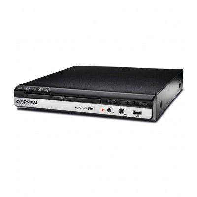 Imagem de DVD Player Mondial D-10 Com Karaokê Preto