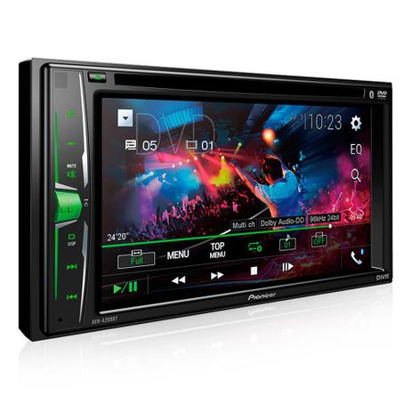d1a32eba1 DVD Player Pioneer AVH-A208BT 6.2 Pols. - 2 DIN   Bluetooth   USB   AUX