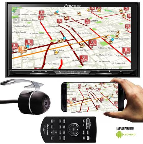 Imagem de DVD Player Pioneer AVH-Z9280TV Tela 7 Polegadas TV Digital Espelhamento Android Bluetooth USB Conexão HDMI Entrada Auxiliar + Câmera Ré