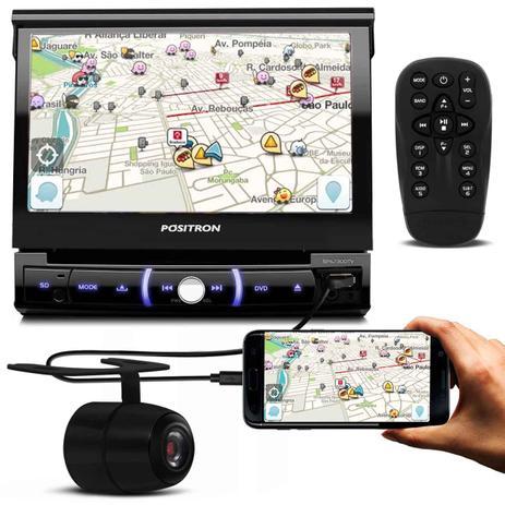 Imagem de DVD Player Pósitron SP6730DTV 7'' Retrátil Bluetooth Espelhamento TV USB + Câmera De Ré Borboleta