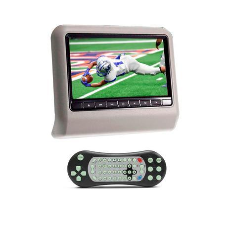 Imagem de DVD Portátil Encosto Cabeça Cinza Tela 9 Polegadas USB SD Game Wireless Joystick