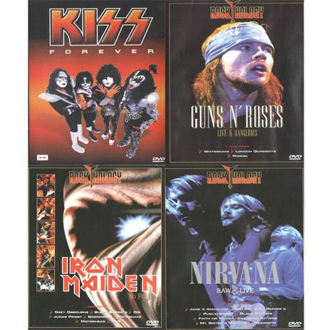 Imagem de DVDs  - Kiss, Nirvana, Guns NRoses, Iron Maiden,