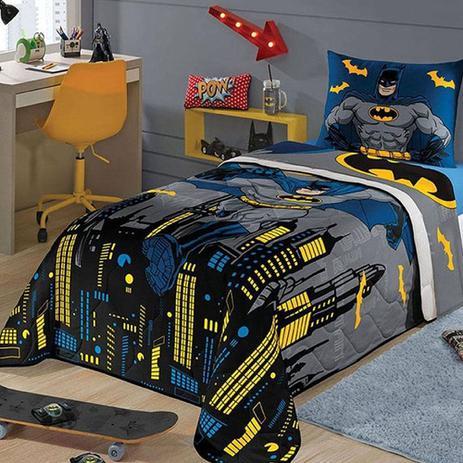 f85bcf4c3d Edredom e Jogo de Cama Solteiro 3 Pçs Batman Super Herói - Lepper ...
