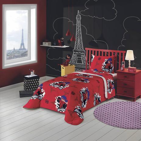 04702e1eda Edredom Infantil Ladybug Algodão 1 Peça 220cmx150cm Lepper Vermelho ...