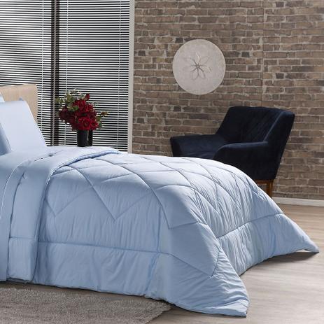 9a04ad8f60 Edredom Queen Plumasul Premium Percal 230 Fios 240X260Cm Azul ...