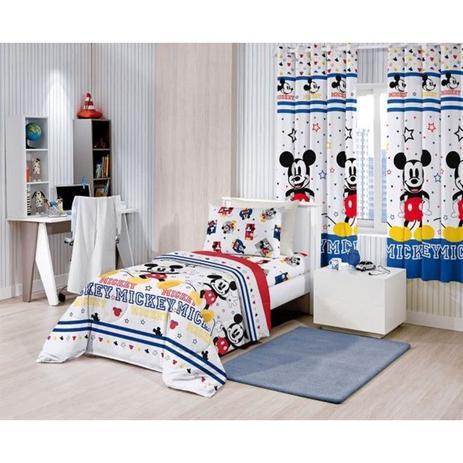 64f00790e3 Edredom Solteiro Disney Mickey Play Santista - Edredom - Magazine Luiza