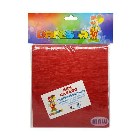 Imagem de Embalagem Crepom Bem Casado Vermelho c/40 - Dafesta