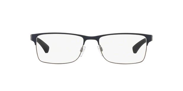 15bb3a85e3e92 Emporio Armani EA1052 3155 Azul Emborrachado Lente Tam 55 - Óculos ...